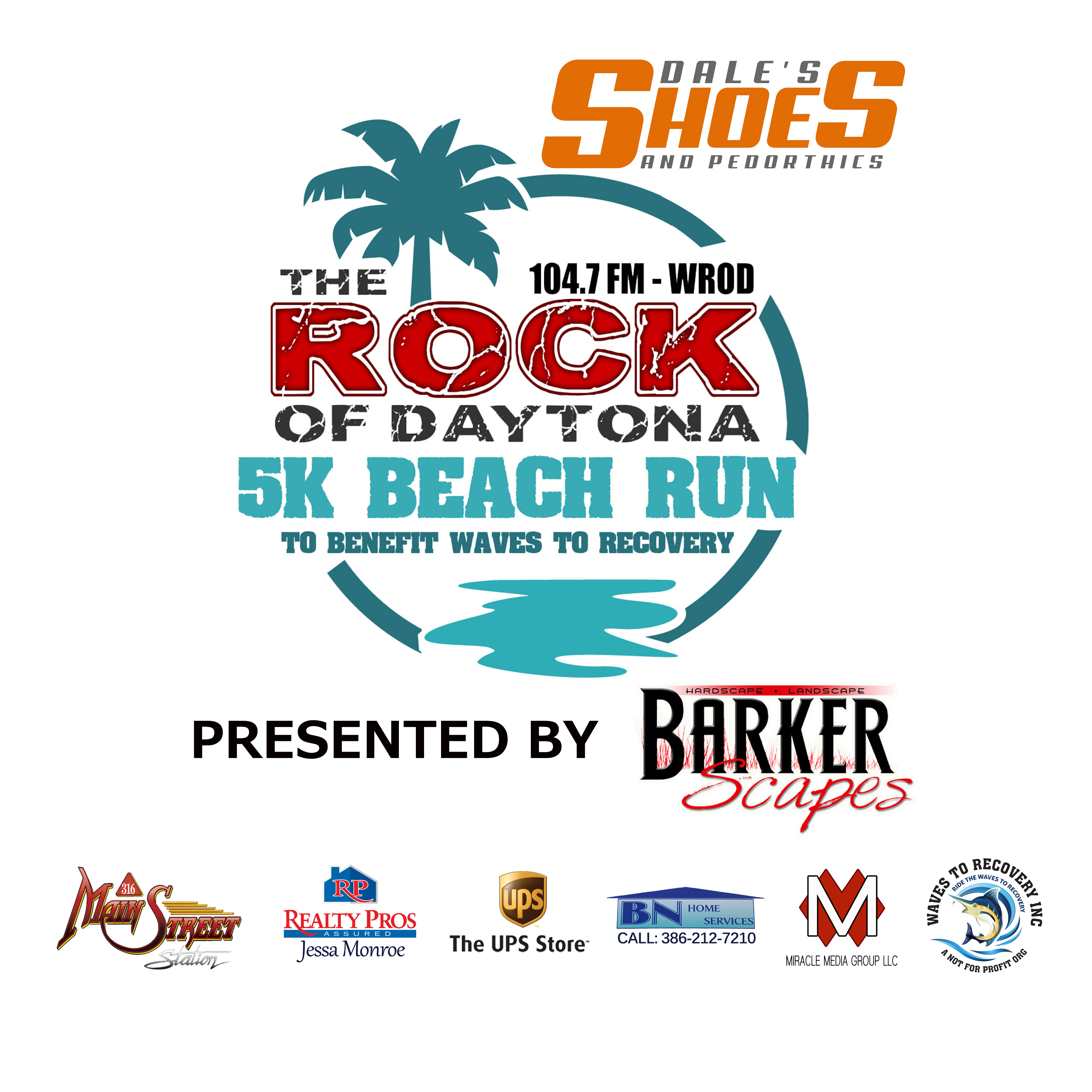 """20562977f5 The Rock of Daytona"""" invites you to the 3rd Annual WROD – Dales Shoes 5K  Beach Run"""